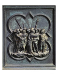 The Capture of Christ, Fourteenth Panel of the North Doors of the Baptistery of San Giovanni Giclee Print by Lorenzo Ghiberti