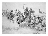 The 9th Bengal Cavalry Charge the Beloochees, Battle of Meanee, 17th February 1843 (Litho) Giclee Print by  English
