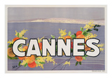 Advertisement for Cannes, Printed by Draeger, 1930 (Colour Litho) Giclee Print by  Sem