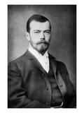 Nicholas Ii as Tsarevich, C.1892 (B/W Photo) Giclée-tryk af Russian Photographer