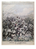 Destruction of a German Expedition in Africa' Cover Illustration from 'Le Petit Journal', 1891 Giclee Print by  French