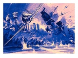 Pearl Harbour (Digitally Enhanced Image) Giclee Print by Graham Coton
