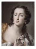 Caterina Sagredo Barbarigo as 'Bernice', C.1741 (Pastel on Paper Mounted on Canvas) Giclee Print by Rosalba Giovanna Carriera
