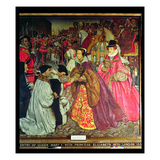 Entry of Queen Mary I with Princess Elizabeth into London in 1553, 1910 Giclee Print by John Byam Liston Shaw