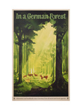 In a German Forest', Poster Advertising Tourism in Germany, C.1935 (Colour Litho) Giclee Print by Jupp Wiertz