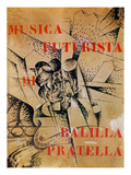 Design for the Cover of 'Musica Futurista' by Francesco Balilla Pratella (1880-1955), 1912 ジクレープリント : ウンベルト・ボッチョーニ