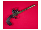 Brass-Barrelled Sea Service Boarding Pistol, Flintlock, C.1750 (Wood and Metal) Giclee Print by  English