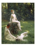 The Glade, 1900 (Oil on Canvas) Giclee Print by Julius Leblanc Stewart
