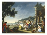 Tarantella at Mergellina, c.1750 Giclee Print by Filippo Falciatore