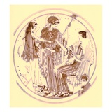 Theseus and Amphitrite, Illustration from 'Greek Vase Paintings' Giclee Print by  English