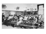 History Class at the Negro Industrial Institute at Tuskegee, Alabama, 1902 (B/W Photo) Giclee Print by  American Photographer