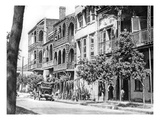 Street of Balconies in the Vieux Carre, New Orleans, 1925 (B/W Photo) Giclee Print by  American Photographer