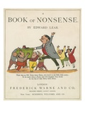 Front Cover of 'A Book of Nonsense', Published by Frederick Warne and Co., London, C.1875 Giclée-Druck von Edward Lear