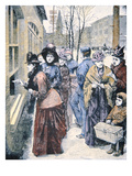 Women's Suffrage in the Usa: Women Voting in the Wyoming Territory after Winning That Right in 1869 Giclee Print by  American
