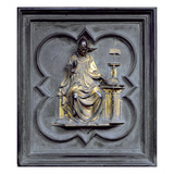 St. Gregory, Panel G of the North Doors of the Baptistery of San Giovanni, 1403-24 (Bronze) Giclée-tryk af Lorenzo Ghiberti