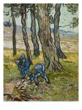 The Diggers, 1889 (Oil on Paper Lined onto Canvas) Giclee Print by Vincent van Gogh