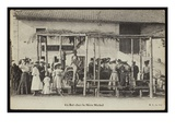 Postcard Depicting a Dance at Mere Michel's, Le Puy, C.1900 (B/W Photo) Giclee Print by  French Photographer