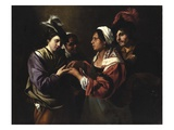 The Fortune Teller, c.1616/17 Giclee Print by Bartolomeo Manfredi