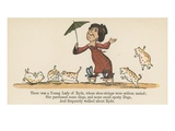 There Was a Young Lady of Ryde, Whose Shoe-Strings Were Seldom Untied Giclee Print by Edward Lear
