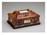 Courtly Amber Casket, C.1695 (Amber, Ivory, Wood, Glass, Brass and Velvet) Giclee Print by Gottfried Wolffram