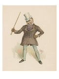 Major Bagstock, Illustration from 'Character Sketches from Charles Dickens', C.1890 (Colour Litho) Giclee Print by Joseph Clayton Clarke