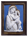 Madonna and Child, 1445-50 (Enamelled Terracotta) Giclee Print by Luca Della Robbia