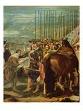 The Surrender of Breda, 1625, c.1635 (Detail) Giclée-Druck von Diego Rodriguez de Silva y Velazquez