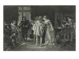 Conoisseurs at Rembrandt&#39;s Studio, Illustration from &#39;Great Men and Famous Women&#39; (Litho) Giclee Print by Adolphe Alexandre Lesrel