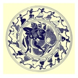 Herakles Wrestling with Triton, Illustration from 'Greek Vase Paintings' Giclee Print by  English