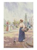 A Parisian Flower Seller, 1898 (W/C) Giclee Print by Arthur Augustus II Glendening