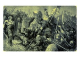 Belisarius Leads the Roman Army Against the Goths Giclee Print by  English