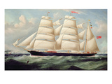 Clipper Barque 'Clendovey' Giclee Print by Richard B. Spencer