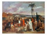 Oriental Merchants Premium Giclee Print by Giacomo Casa