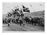 Hitler Youth on Parade, 1933 (B/W Photo) Giclee Print by  German photographer