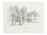 Landscape, Late 19th-Early 20th Century (Pencil on Paper) Giclee Print by John Henry Twachtman