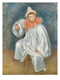 The White Pierrot, 1901/02 (Oil on Canvas) Giclée-tryk af Pierre Auguste Renoir