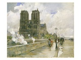 Notre Dame Cathedral, Paris, 1888 Giclee Print by Childe Hassam