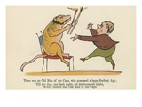 There Was an Old Man of the Cape, Who Possessed a Large Barbary Ape Giclee Print by Edward Lear