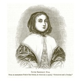Oliver Cromwell's Wife, Illustration from 'The Pictorial History of England' (Engraving) Giclee Print by  English