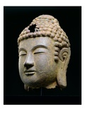 Head of Buddha, Korean, Late 8Th, Early 9th Century Ad (Cast Iron) Giclee Print by  Korean