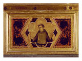 St. Francis of Assisi, from the Coronation of the Virgin Polyptych (Middle Right Predella) Giclee Print by Ambrogio Bondone Giotto
