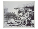 Chinese Cannon Captured During the Anglo-French Assault on Peitang in August 1860 Giclee Print by  Chinese Photographer