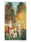 The Happy Quartet, 1902 Giclee Print by Henri J.F. Rousseau