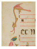 Missal 515 F.9R Fantastical Bird Hunting a Butterfly, Detail of Decorative Border Giclee Print by Filippo Di Matteo Torelli