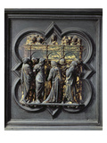 Pentecost, Twentieth Panel of the North Doors of the Baptistery of San Giovanni, 1403-24 (Bronze) Giclee Print by Lorenzo Ghiberti