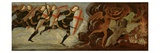 St. Michael and the Angels at War with the Devil (Tempera on Wood Panel) Giclée-tryk af Domenico Ghirlandaio