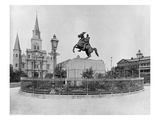 Jackson Square, New Orleans, C.1890 (B/W Photo) Giclee Print by  American Photographer
