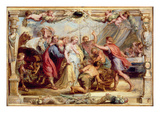 Briseis Given Back to Achilles, 1630/1631 (Oil on Panel) Giclée-Druck von Peter Paul Rubens