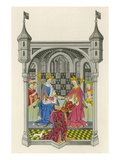 John Talbot, Earl of Shrewsbury, Presenting His Book to Queen Margaret Giclee Print by Henry Shaw