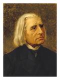 Portrait of Franz Liszt (1811-86) Giclee Print by Giuseppe Tivoli